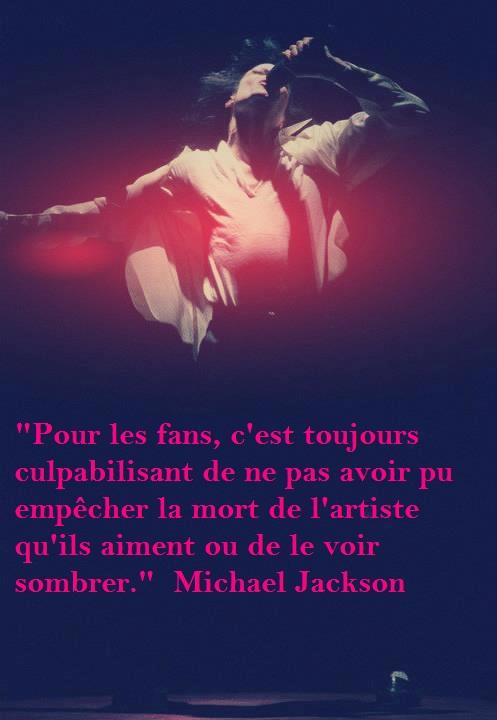 Michael se met a la place des fans