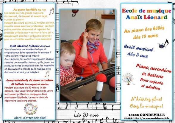 Blog de sylviebernard-art-bouteville : sylviebernard-art-bouteville, Léo - 1er cour de piano - Gondeville