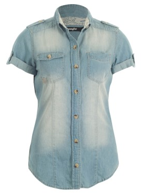 Chemise jean manches courtes-Jennyfer