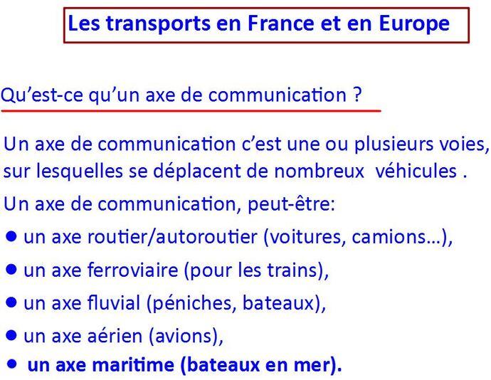 Transport en France et en Europe