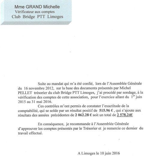 Assemblée Générale Ordinaire du 10 juin 2016