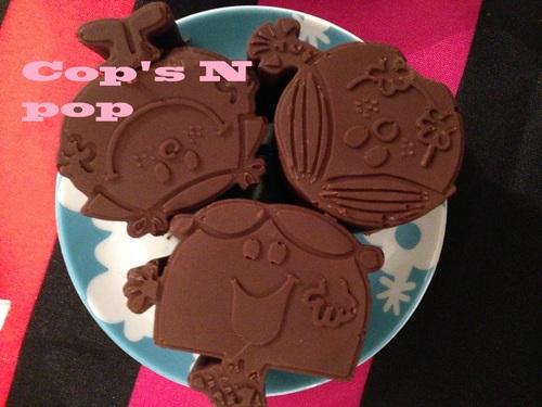 Semoule au chocolat en coque de chocolat (trop rigolote!)