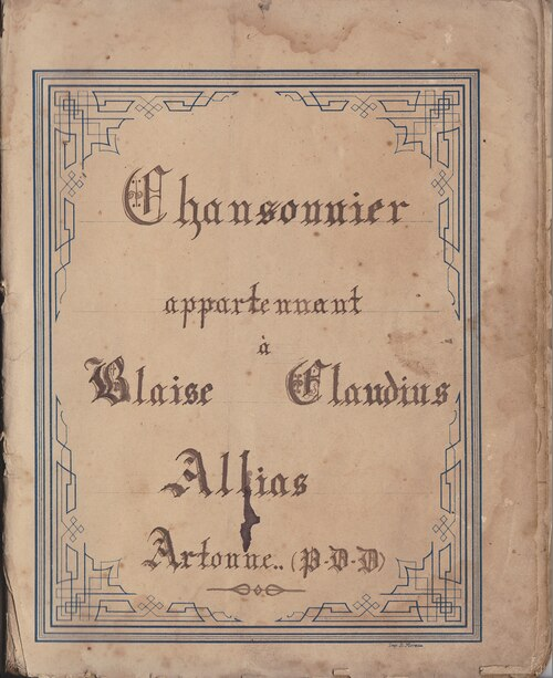 Blaise Claudius Allias Chansonnier