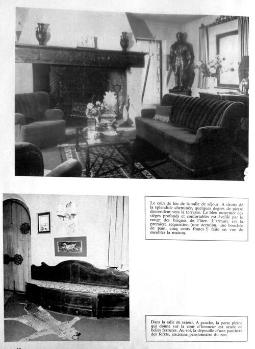 """la maison de Jean Richard en 1967 dans """"Mobilier décoration""""  (archives Jean Claude Murat)"""