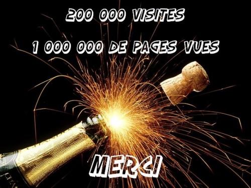 200 000 visites et 1 000 000 de pages vues!