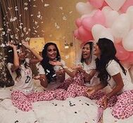 32 Best Silk Pajama Party! images | Pajama party, Party photoshoot ...