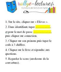 Mise en place du rallye sur rallye-lecture.fr