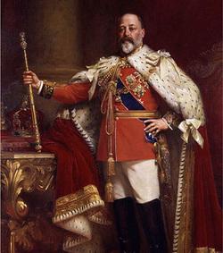Le Prince de Galles, le futur Edouard VII d'Angleterre