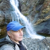 Au pied de la cascade du défilé de Tourmont