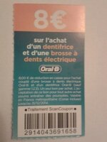 Coupon de 8€ pour la brosse à dents et le dentifrice