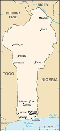 Benin carte