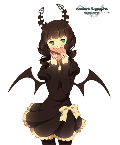 Render Black Rock Shooter - Renders Dead Master Boite de Chocolat Black Rock Shooter