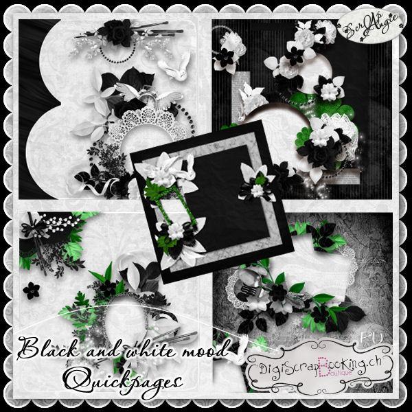 """Black and White Mood"" de Scrap'Angie"