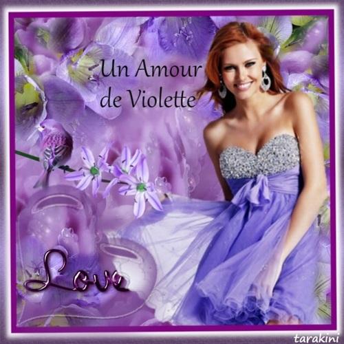 """Défi chez Fée capucine """"Un amour de Violette"""""""