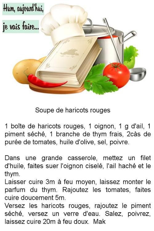 Recettes en images des soupes
