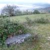 L'ancienne borne frontière numéro 33, couchée, à Kondendiaga (367 m)