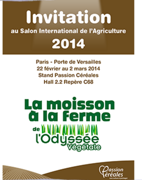 Invitation salon de l'agriculture