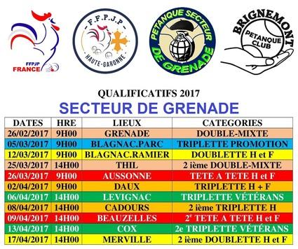 Qualificatifs Secteur 2017