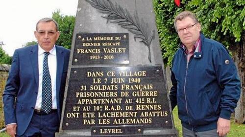 Théodore Delatouche réchappé d'un massacre ( Article Ouest France du 23 juin 2016 )