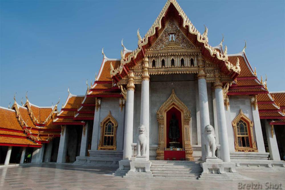 Wat Benchama Bophit , le dernier grand temple de Bangkok