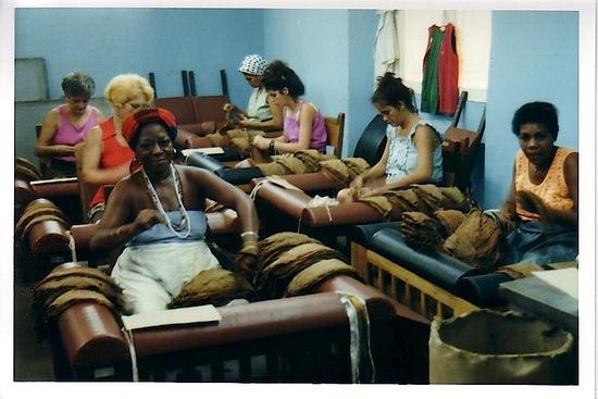 la fabrique de cigares de La Havane;