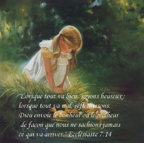 La pensée du jour :Ne vous inquiétez pas, faites confiance à Dieu