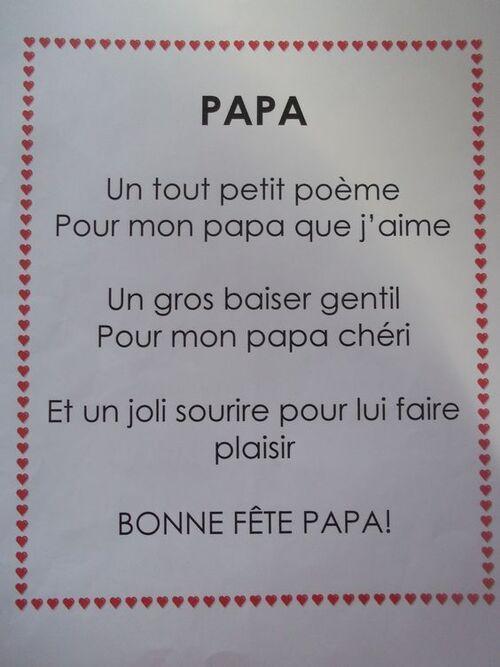 Poésie pour les papas