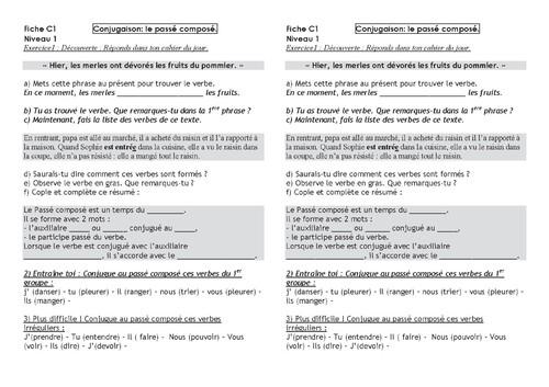 Plan de travail n°1 CM1/CM2, période 4