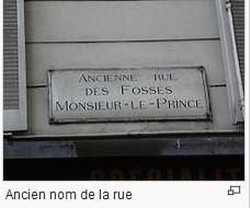 Historique de notre rue