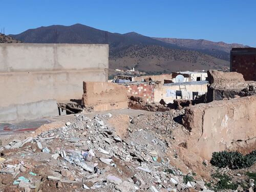 Beaucoup de ruines dans le Mellah