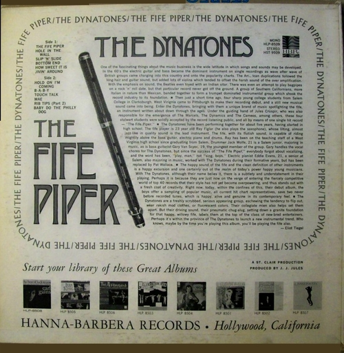 "The Dynatones : Album "" The Fife Piper "" Hanna-Barbera Records ‎HLP 8509 [ US ]"