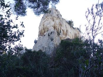 L'abrupte face Nord de l'oppidum