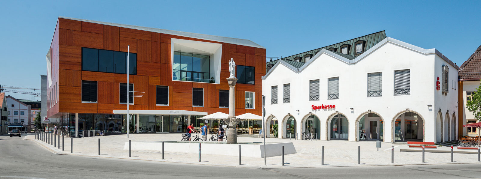 Rathaus & Sparkasse in Bad Aibling