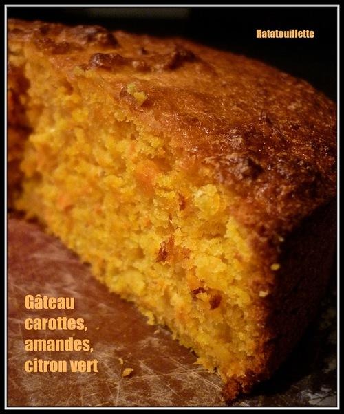 Gâteau carottes, amandes, citron vert (au Thermomix)