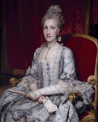 Portrait de Marie-Louise, grande-duchesse de Toscane, par Mengs en 1770.
