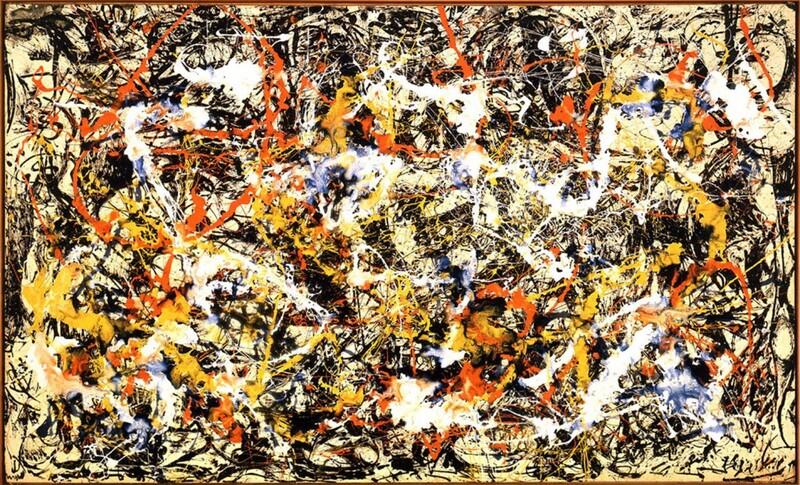 Blue poles 1952 Jackson Pollock