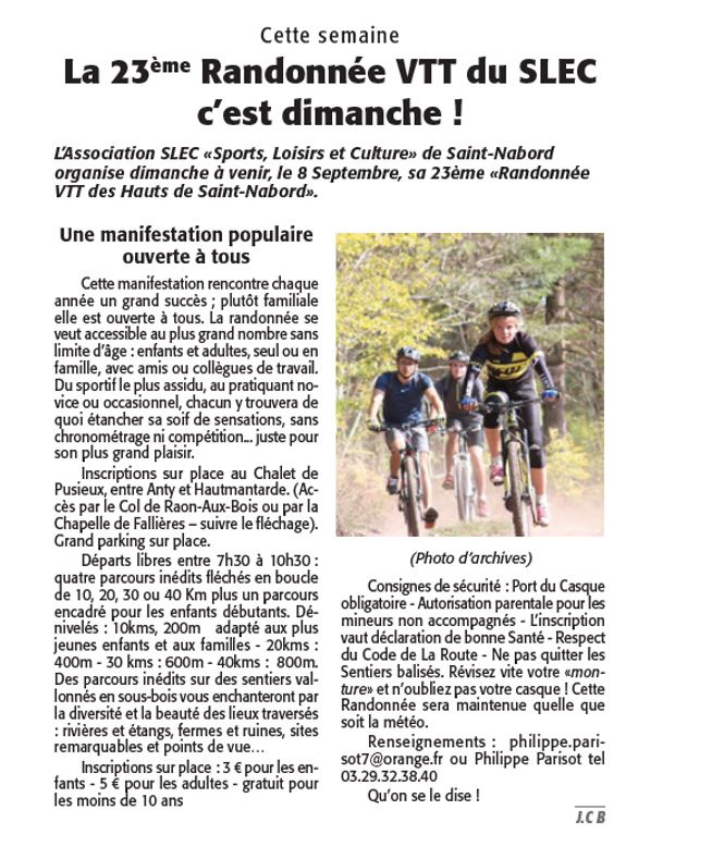 Article de Presse Septembre 2019