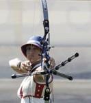 Archer au moment du tir