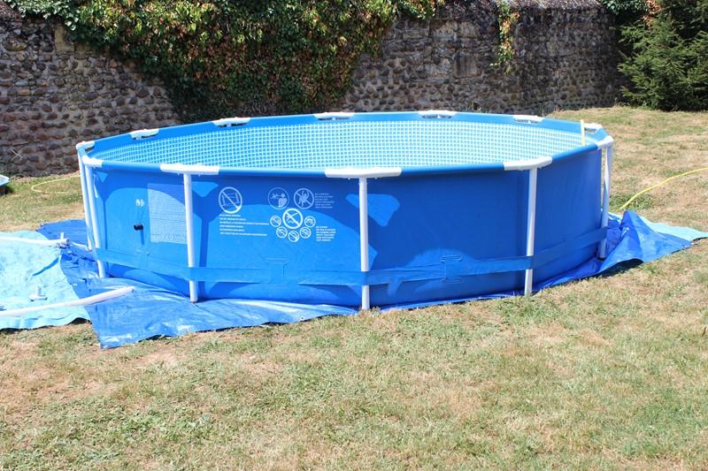 Installation de notre piscine