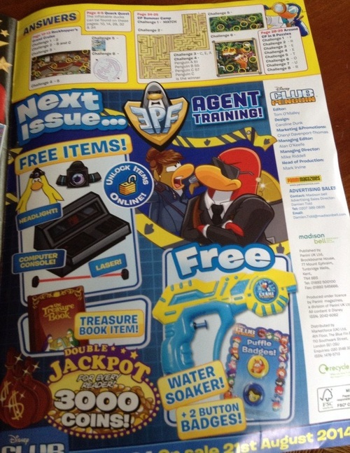 Club Penguin Magazine de juillet 2014