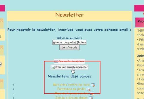 13-Créer une Newsletter