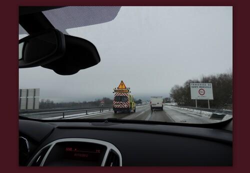 Les ouvriers de la Sanef ont assuré,,,l'auto route était dégagée ,,,jusque Strasbourg