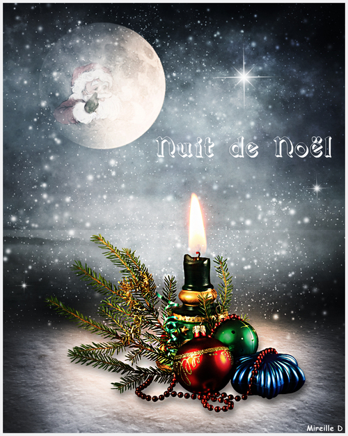 Nuit de Noël (Carte Photomontage)