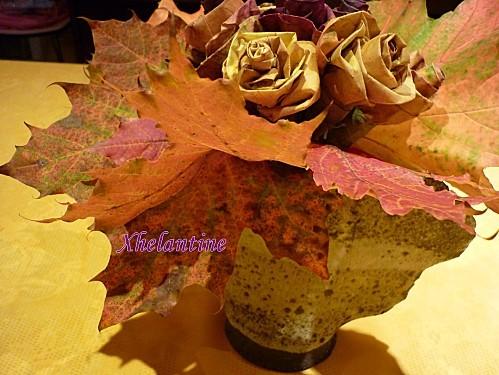 bouquet de roses en feuilles 4