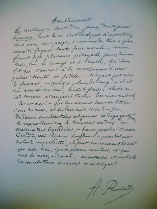 Manuscrit: Avertissement