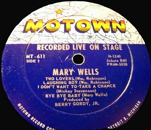 "Mary Wells : Album "" Recorded Live On Stage "" Motown Records MT 611 [ US ]"