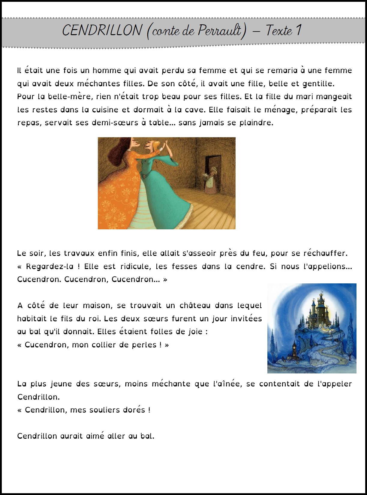 image tapuscrit confirmes cendrillon