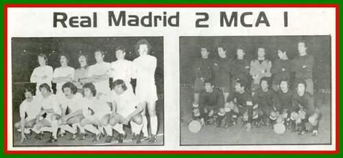 Le MCA hôte du REAL Madrid