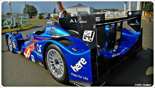 présentation officielle de l' Alpine  à   l' Aéroport Le Mans-Arnage le 5 juin 2015