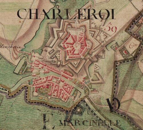 Charleroi (Carte Ferraris, 1777)(kbr.be)